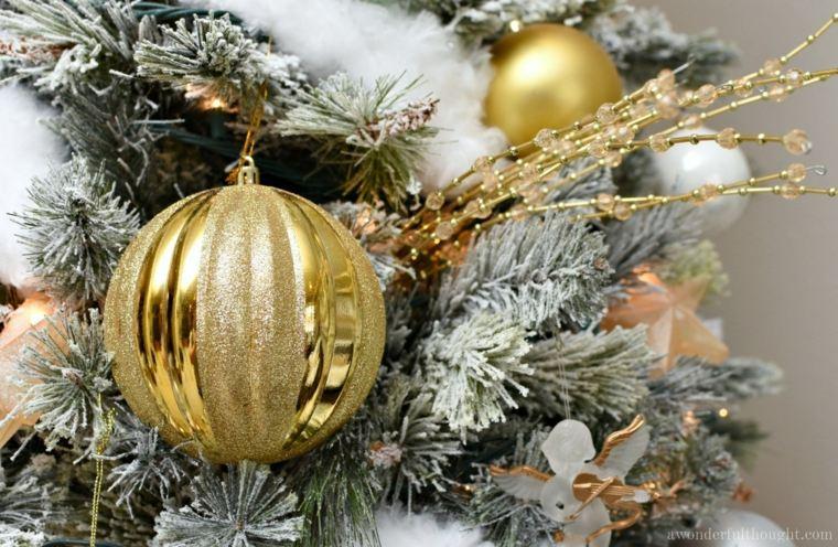 decoracion de navidad-arbol-nieve