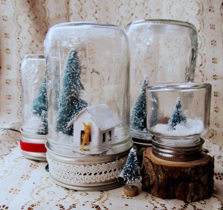 decoracion de navidad-tarros