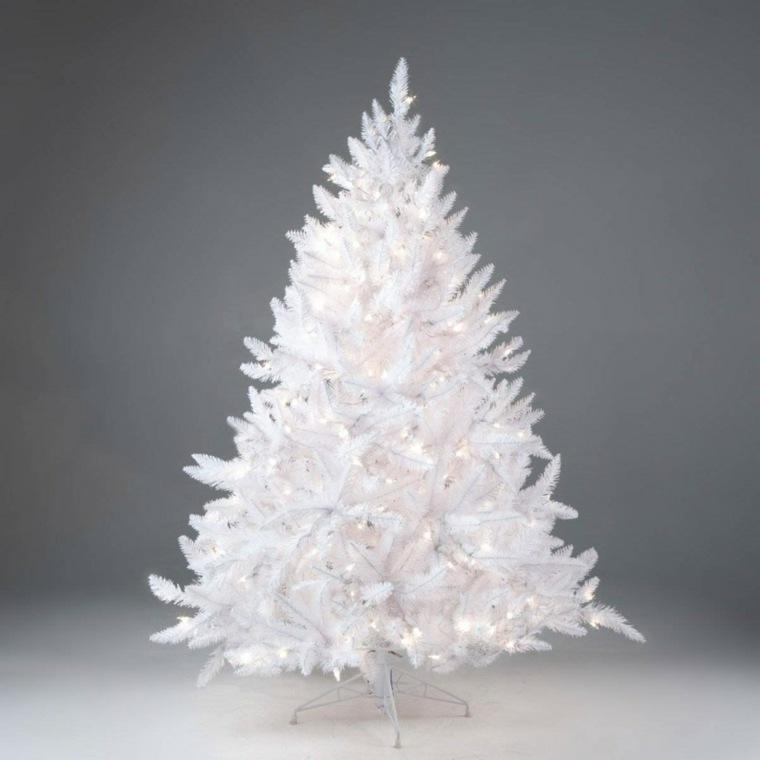 decoracion navidad-arbol-blanco