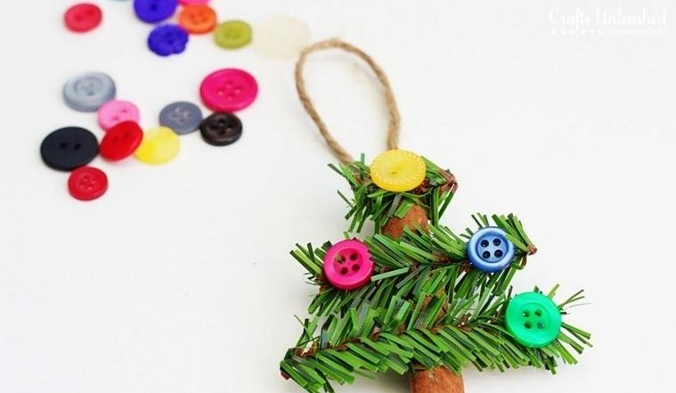 decorado botones canela navidad