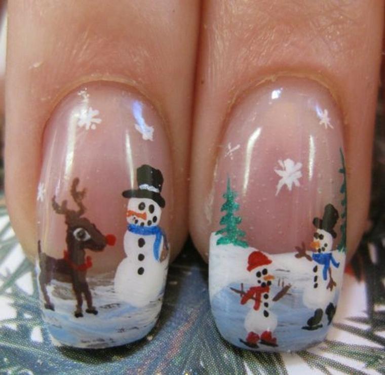 decorados de unas-modernas-navidad