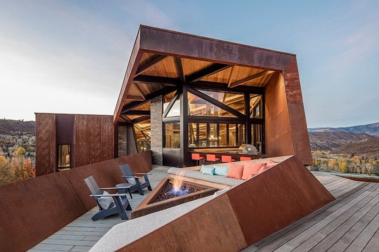 estructuras metalicas suelo madera