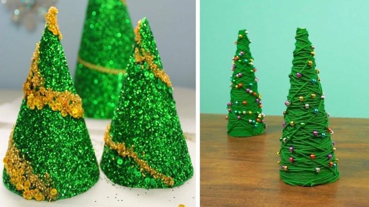 Originales árboles de Navidad Diy en miniatura