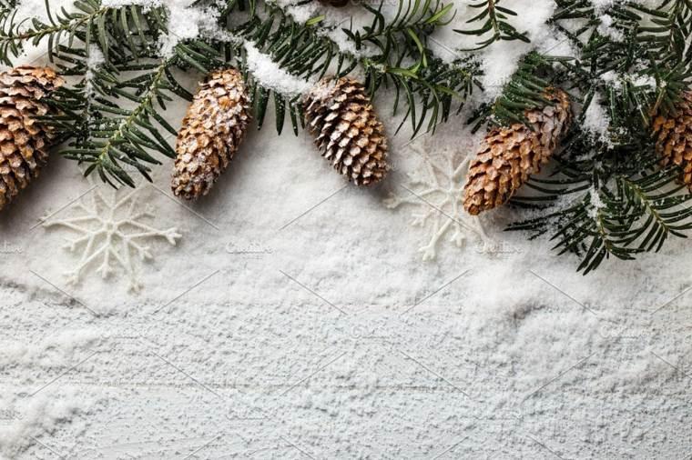 ideas para decorar en navidad-nieve
