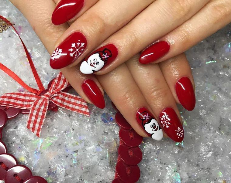 ideas-unas-navidenas-estilo-muneco-nieve