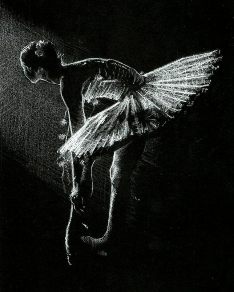 imágenes en blanco y negro ballerina