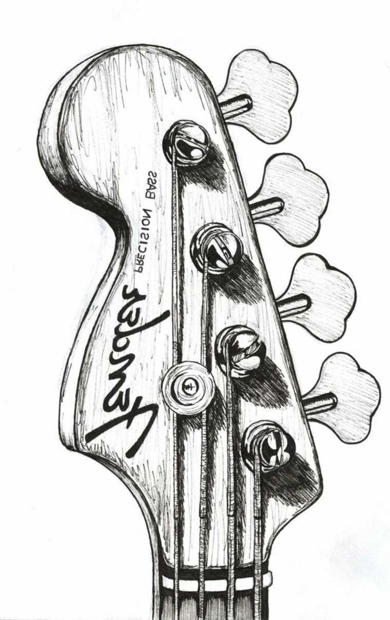 imágenes en blanco y negro guitarra