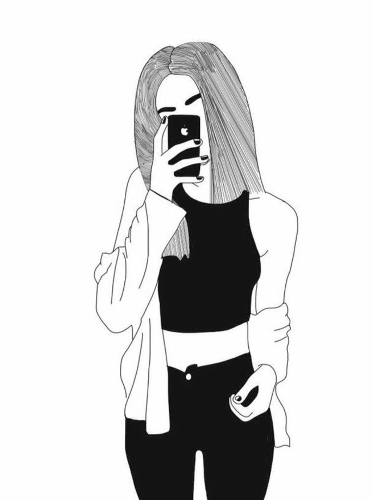 imágenes en blanco y negro selfie