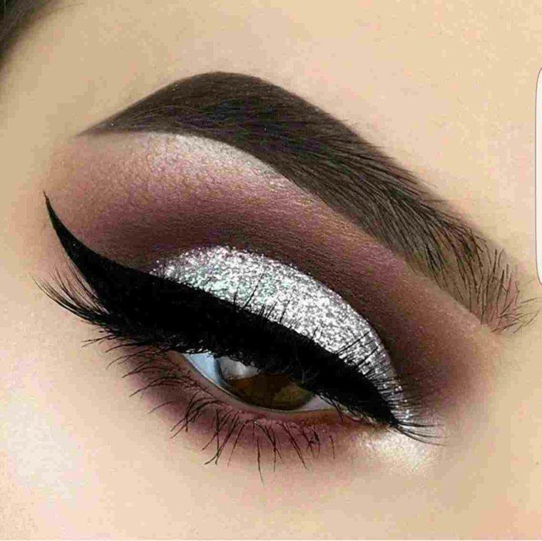 imagenes de ojos maquillados-noche