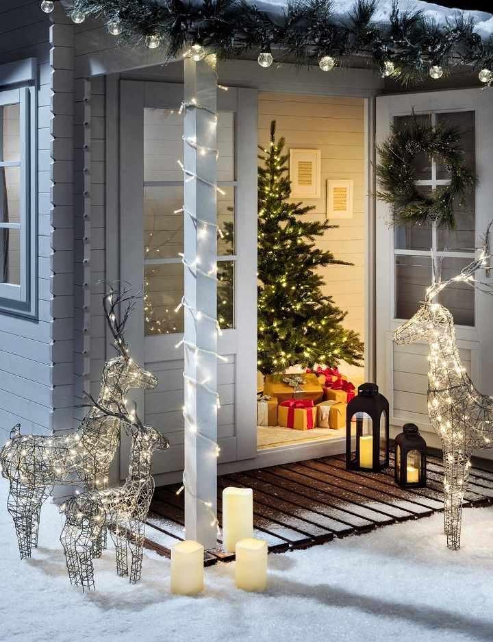 luces de navidad efectos exteriores