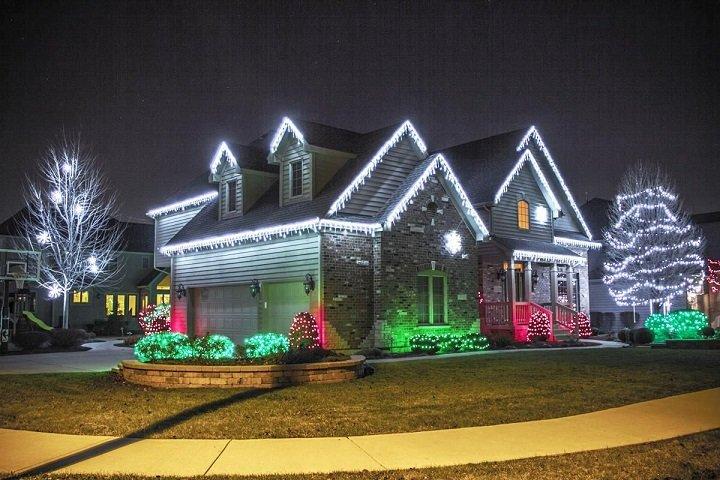 luces de navidad exteriores casas