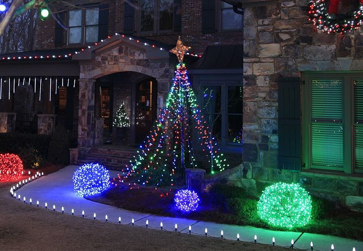 luces de navidad muebles decorados