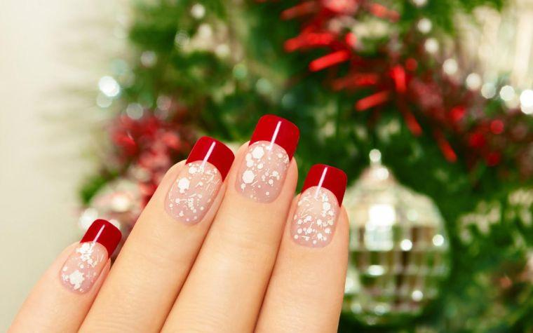 manicura-francesa-rojo-blanco-invierno