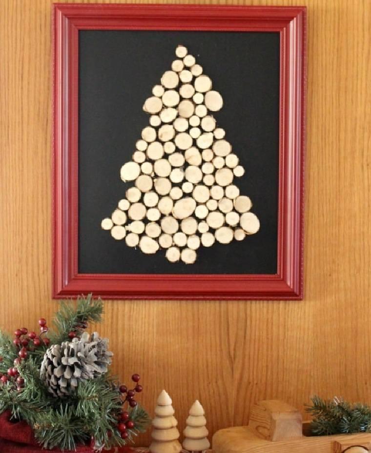 manualidades-arbol-navidad-madera-opciones-decorar-pared