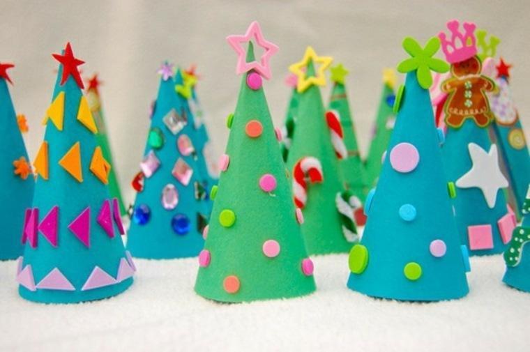 manualidades creativas árboles-de-navidad