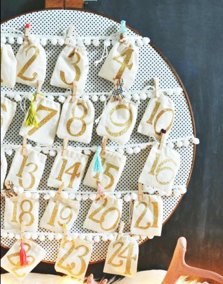 manualidades para navidad calendario-DIY