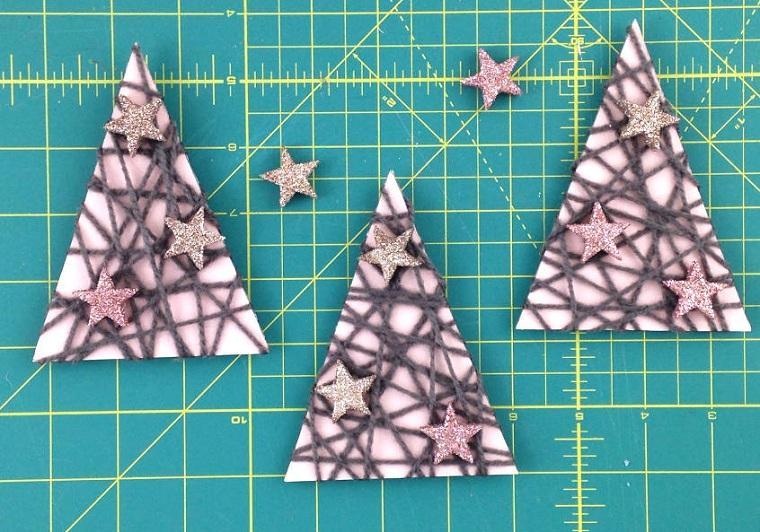 manualidades para navidad fáciles de hacer-arboles-decoracion