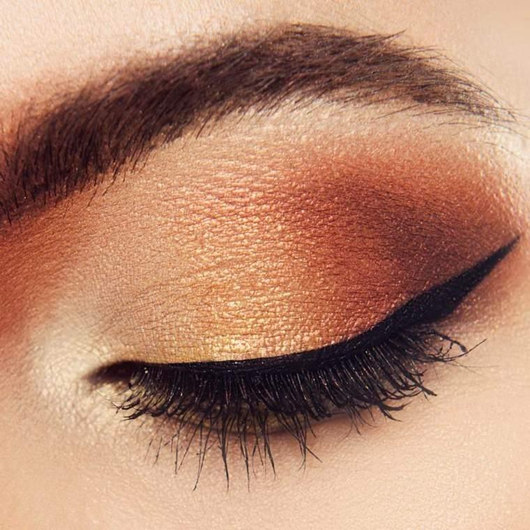 maquillaje de noche para ojos-marrones