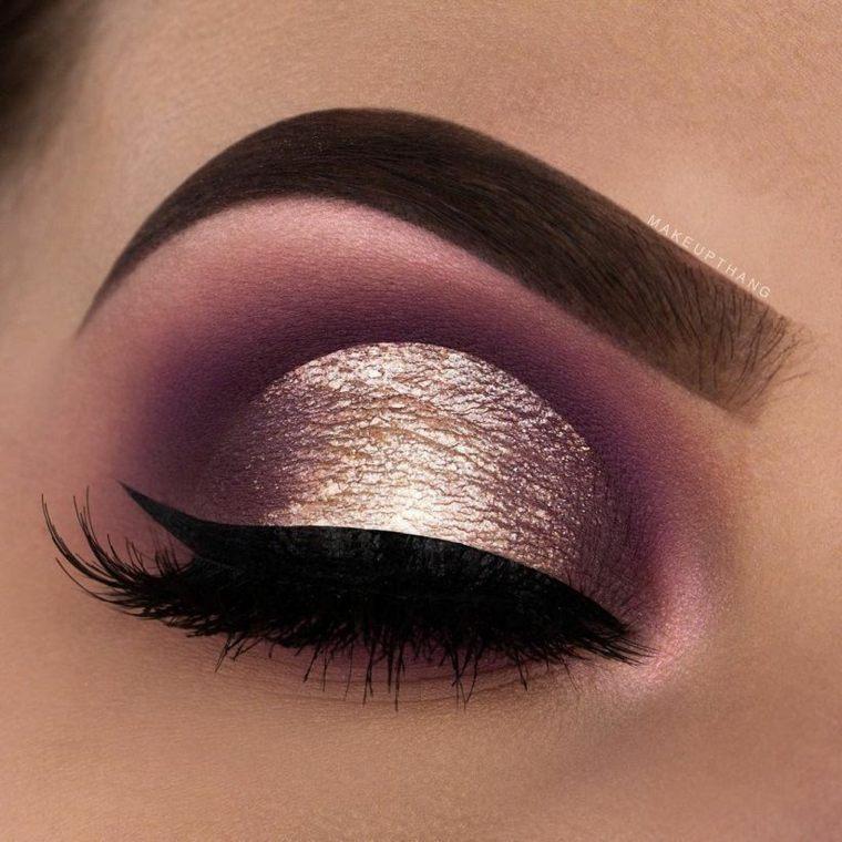 maquillaje de noche para ojos-rosa