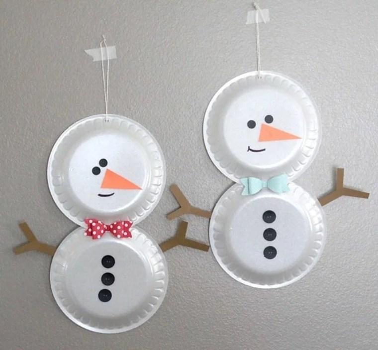 muñecos-de-nieve-de-platos