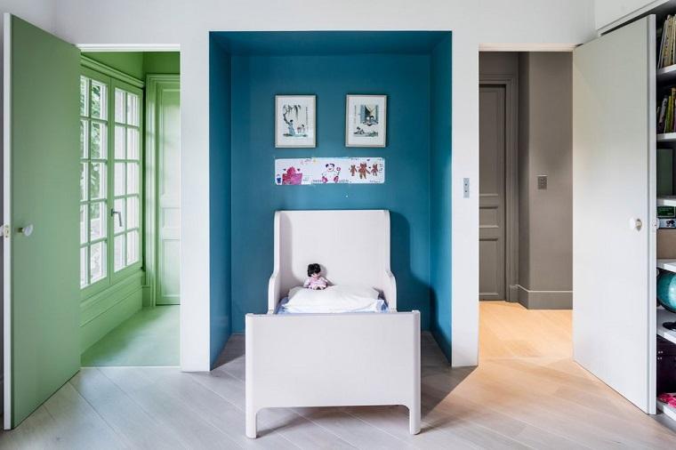 muebles contrastantes tonos claros