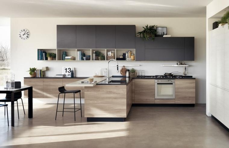 muebles-negros-cocina-diseno-madera