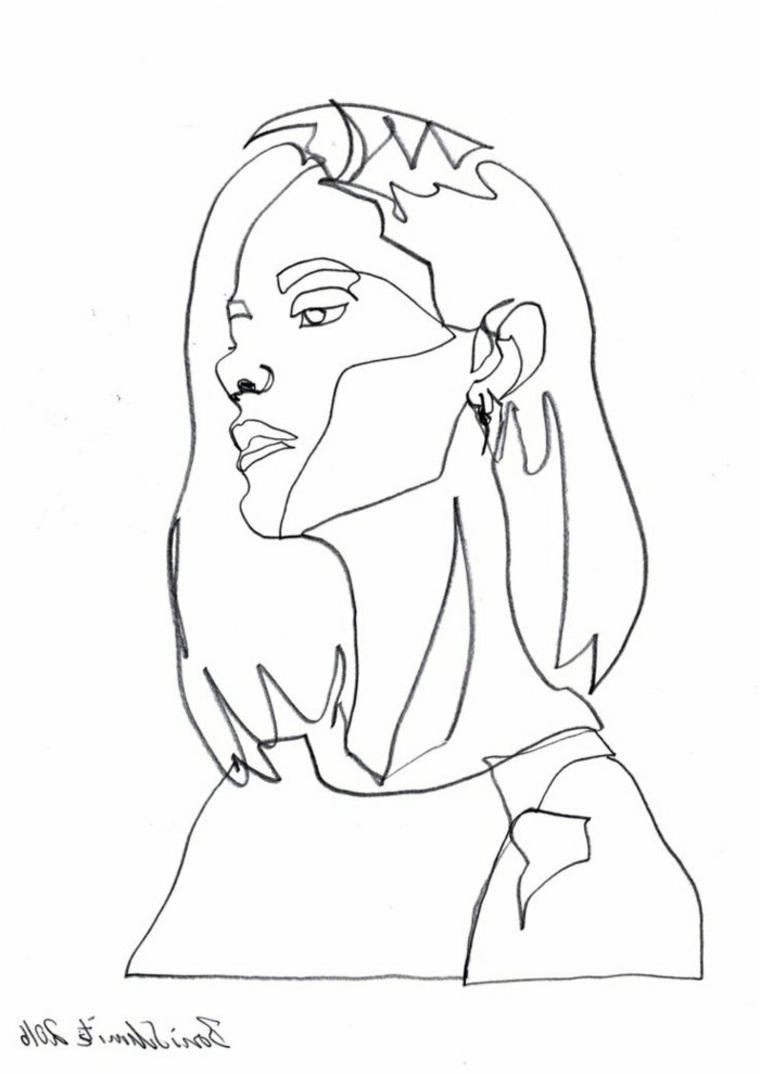 mujer-dibujada-con-línea