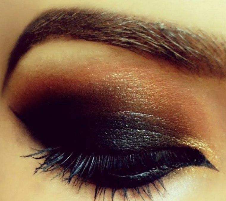 ojos maquillados-salir-noche