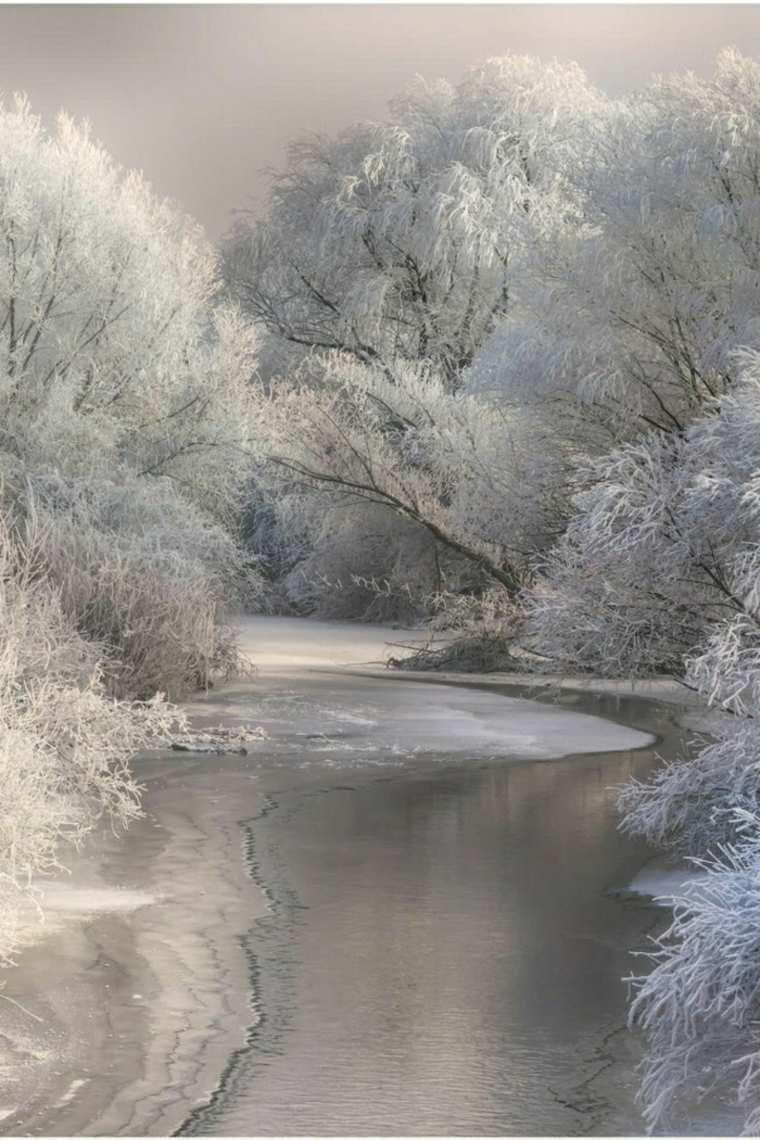 paisajes hermosos lago-helado