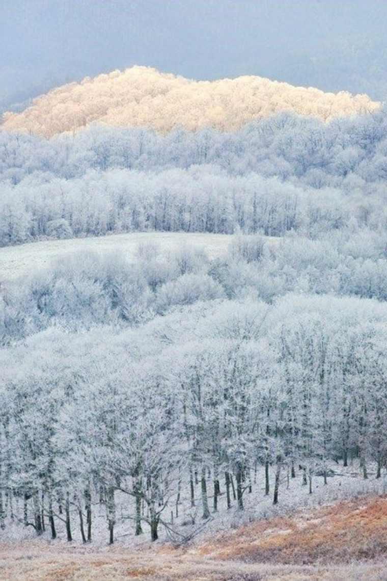 paisajes-hermosos montaña nevada