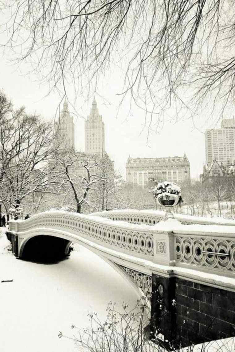 paisajes hermosos puente-con-nieve