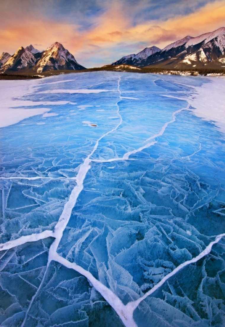 paisajes hermosos río-helado