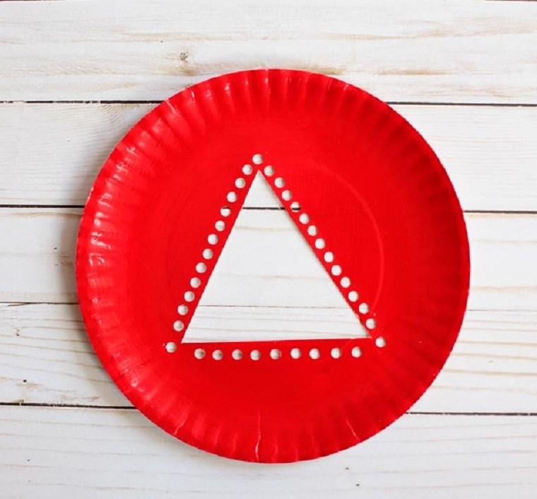plato-papel-arbol-navidad-manualidades-paso-primero
