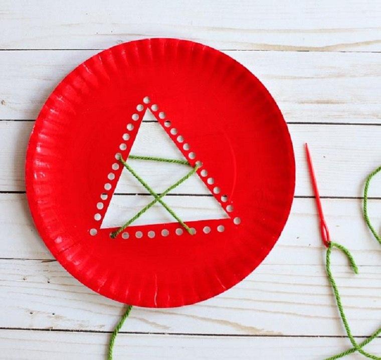 plato-papel-arbol-navidad-manualidades-paso-segundo