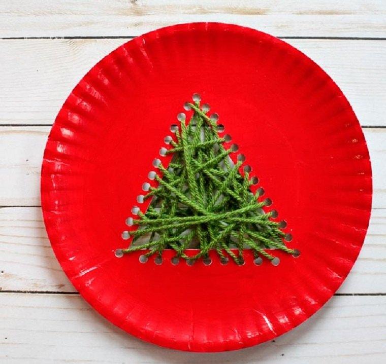 plato-papel-arbol-navidad-manualidades-paso-tercero