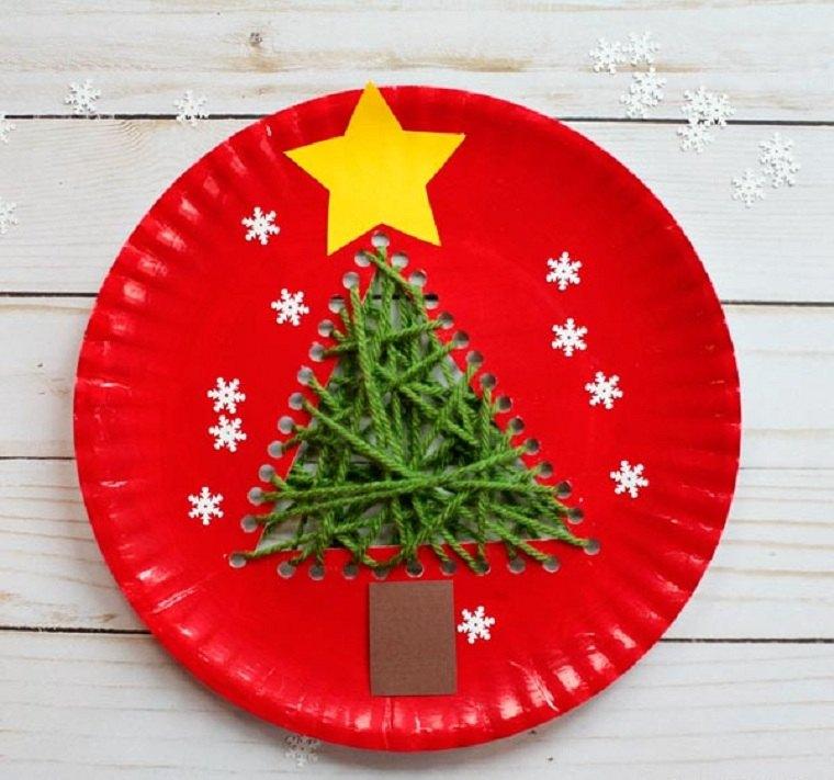 plato-papel-arbol-navidad-manualidades