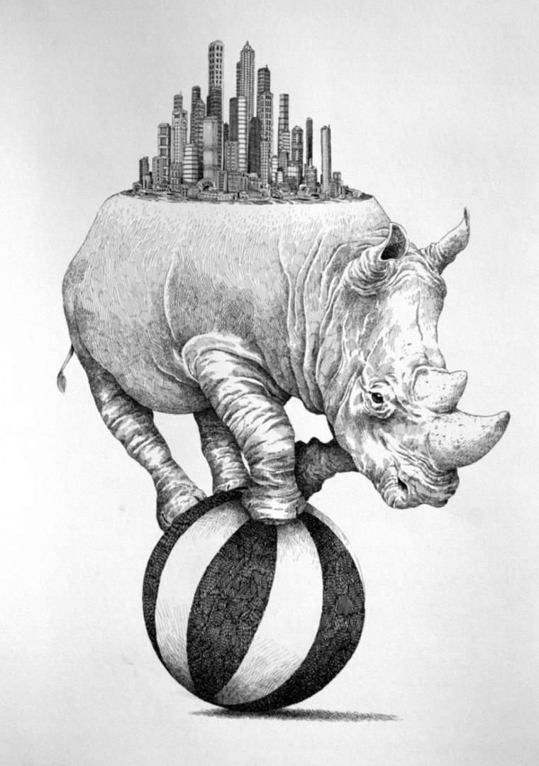 rinoceronte-sobre-bola