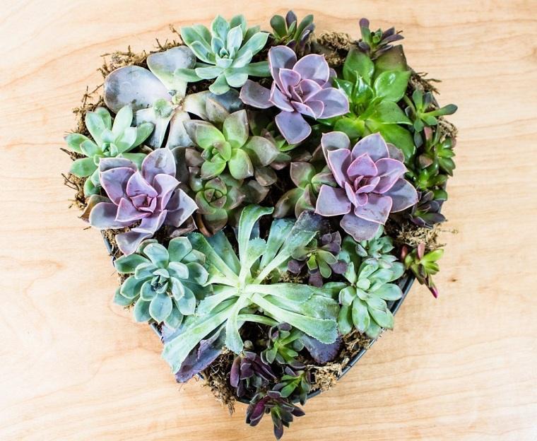 suculentas-plantas-maceta-forma-corazon-ideas-decorar-casa-estilo-naturalidad