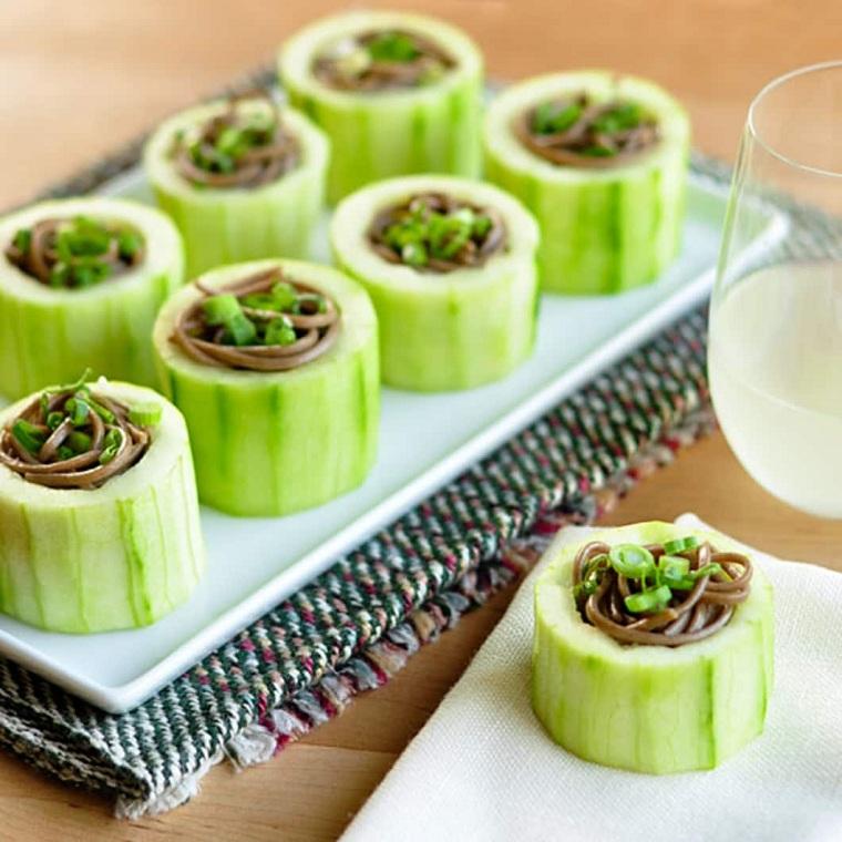 tapas recetas-pepino-fideos-japoneses-ideas