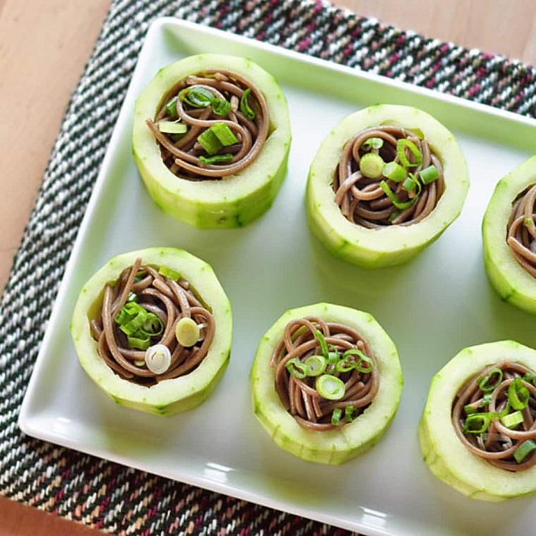 tapas recetas-pepino-fideos-japoneses-opciones