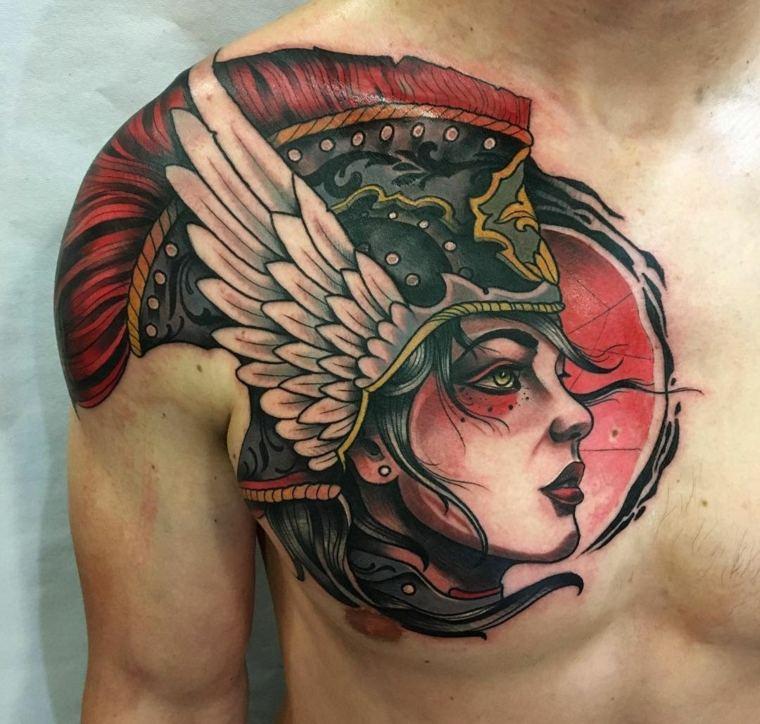 tatuaje-tradicional-en-el-pecho