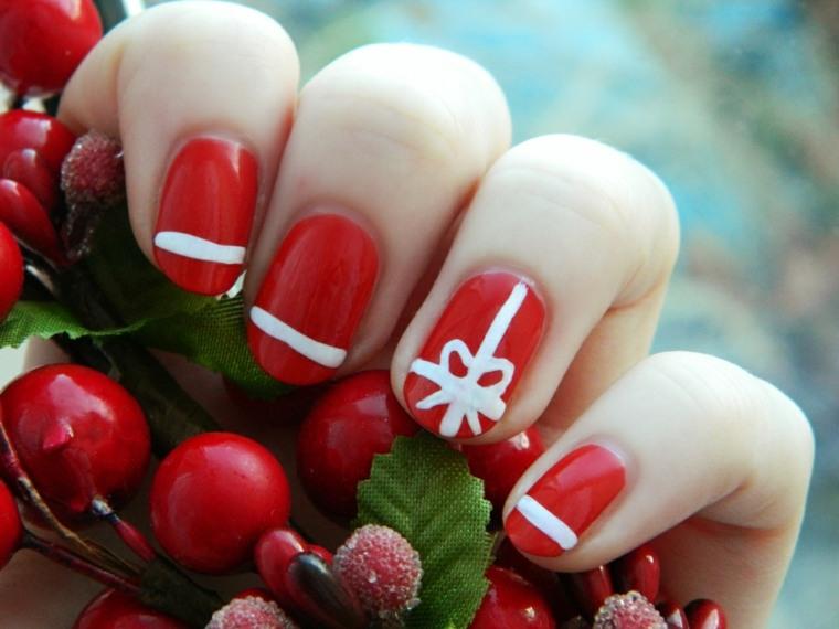 unas de moda-navidad-rojo