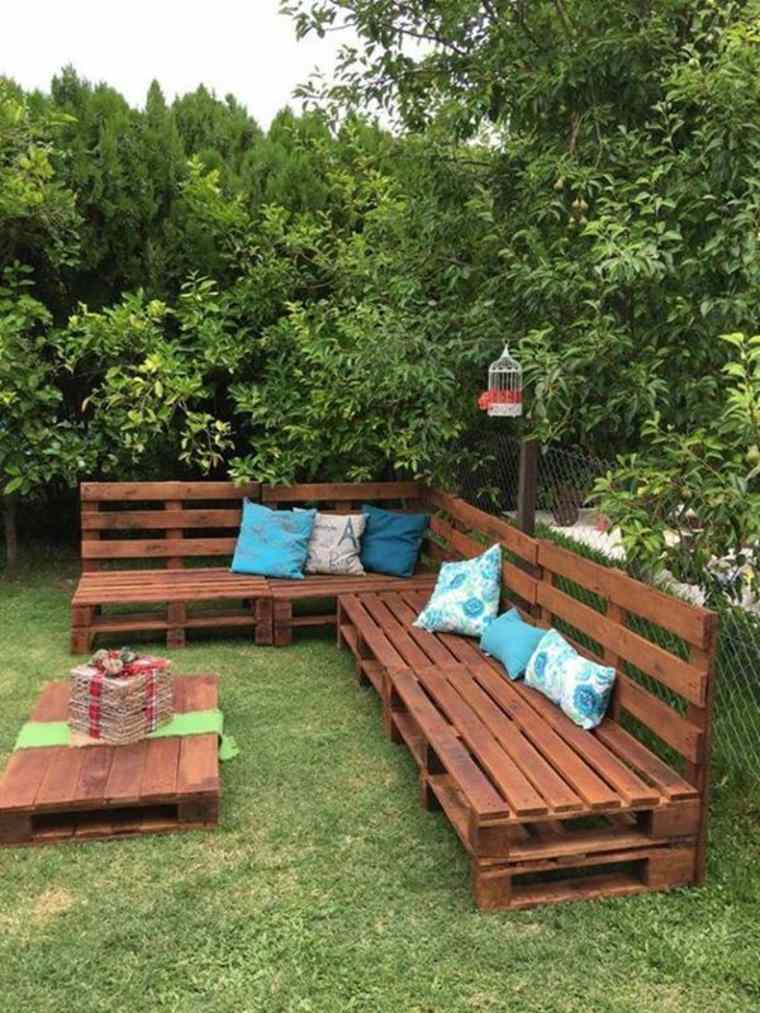 Ideas de decoración para una zona chill out en la terraza con palets