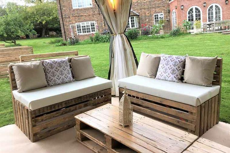 Muebles de pallet para la terraza