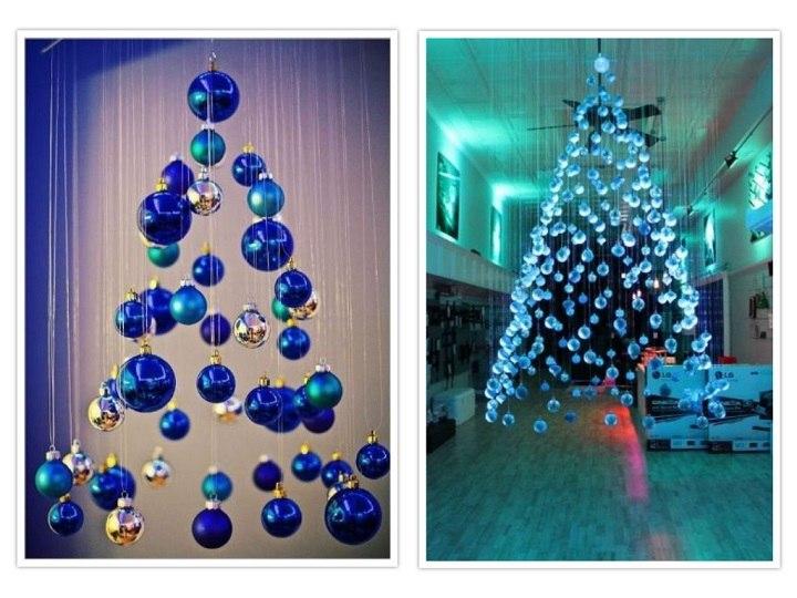 arbol de navidad bolas coloridas adornos