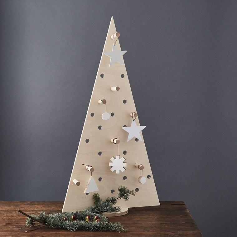 árbol de Navidad de madera-pared-decoracion-estilo-casa