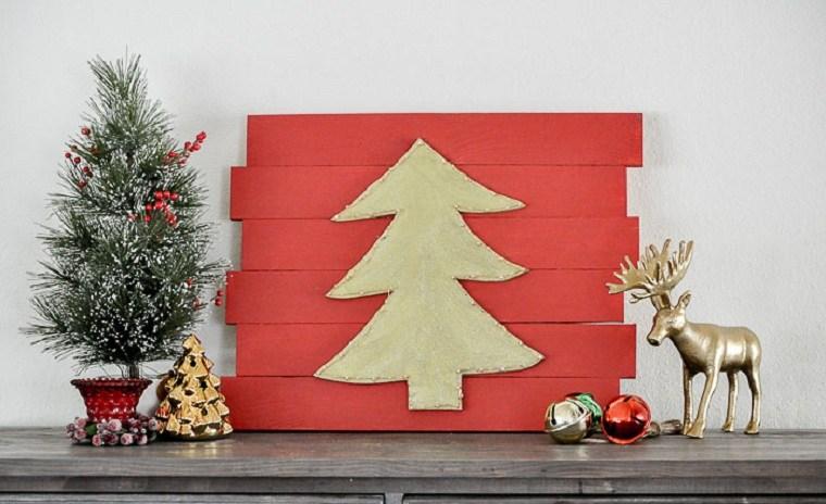arbol-de-navidad-de-madera-pared-decoracion-pared-rojo