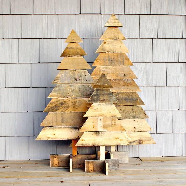 arbol-de-navidad-de-madera-pared-decoracion-varios-arboles