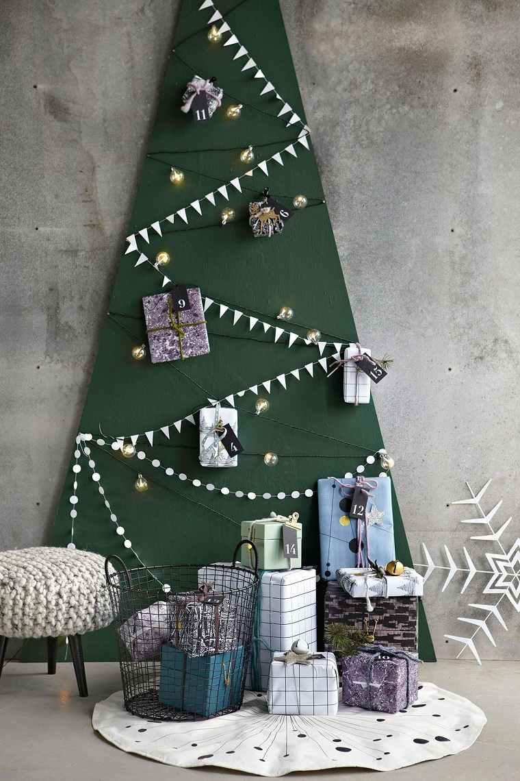 arbol-de-navidad-de-madera-pared-decoracion-verde