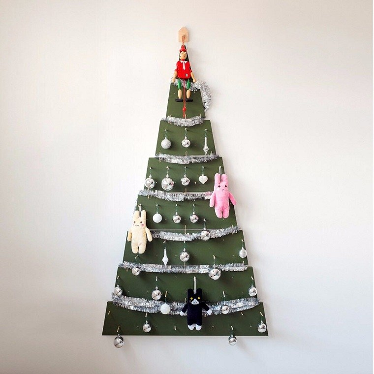 arbol-navidad-madera-decorar-casa-pared